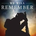 """Poster of soldier with the words """"We will remember"""