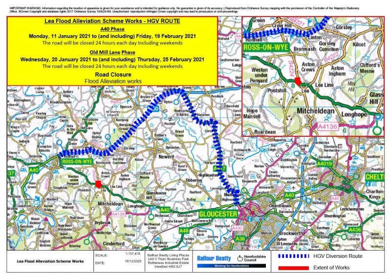 HGV Diversion map