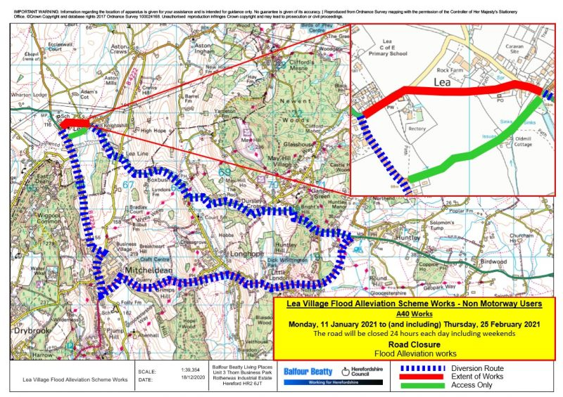 Diversion map